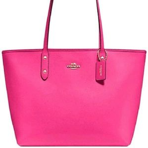 Coach Leather Tote Handbag